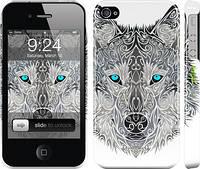 "Чехол на iPhone 4 Узорчатый волк ""3039c-15"""