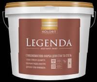 Краска Legenda (Luxe) KOLORIT латексная, 9л