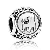 Шарм Телец знак зодиака из серебра 925 пробы пандора (pandora)
