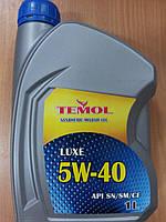 Моторное синтетическое масло TEMOL LUXE 5W-40 1л. - производства Украины, фото 1