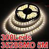 Светодиодная водостойкая лента для подсветки аквариума 3528 SMD 300 шт. диодов - 5м. (без блока питания)