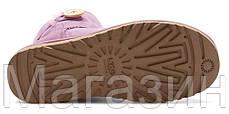 Женские угги UGG Australia Mini Bailey Button, мини угги австралия с пуговицей фиолетовые, фото 3