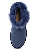 Женские угги UGG Australia Mini Bailey Button, мини угги австралия с пуговицей синие, фото 3