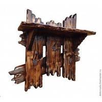 Деревянная вешалка из массива сосны ручной работы