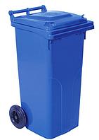 Бак мусорный пластиковый с колесами и ручкой объемом 120 литров
