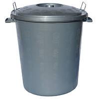 Бак для мусора с крышкой фиксатором пластиковый  23 литра
