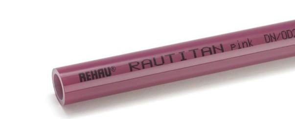 REHAU (РЕХАУ) RAUTITAN pink 25х3,5 - труба для систем отопления