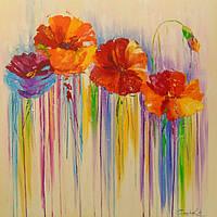 «Абстракция цветов» картина маслом