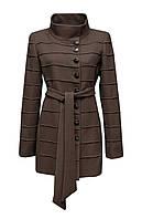 Пальто Donna Bacconi женское укороченное темно бежевое