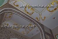 Гипсовый лепной декор, лепнина на потолке