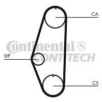 Ремень ГРМ  VW GOLF 1,3 9/90-;POLO 1,05/1