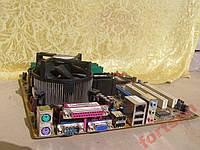 Материнская плата Asus P5GV-MX +Процессор+ОЗУ+Охлаждение