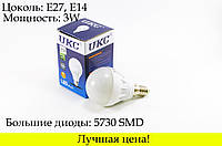 Лампа светодиодная лампочка LED 3W E27 E14