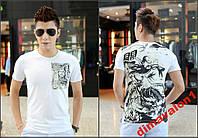 Шикарная футболка с оригинальным принтом ! Новая