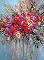 «Яркие розы» картина маслом