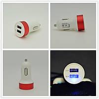 USB зарядка от прикуривателя в авто на 2 USB