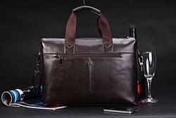 Брендовая мужская сумка POLO черная и коричневая