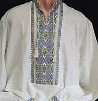 Льняная вышиванка мужская ручной работы