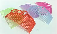 Гребешок пластиковый цветной 4,5*7см/19зуб. 570488