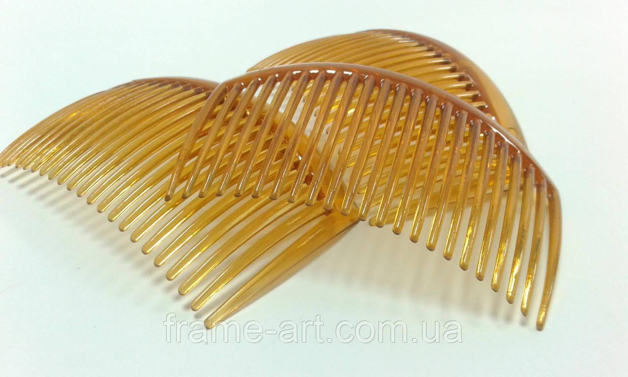 Гребешок пластиковый коричневый 5*8см/23зуб. 570490