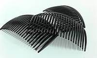 Гребешок пластиковый черный 5*8см/23зуб. 570490