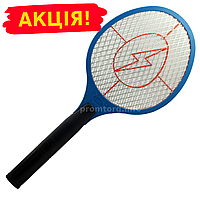 Мухобойка на аккумуляторе - электрический уничтожитель насекомых D-1 (длина-51см, ширина21см)