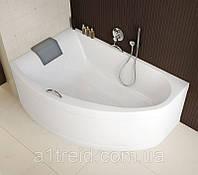 Ванна Mirra (Мира) 170x110 левая (с ножками и подголовником)