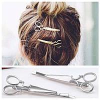 Заколка для волос Ножницы 2 шт (серебристые), фото 1