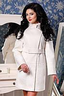 Женское белое кашемировое пальто арт. 926 Тон 50