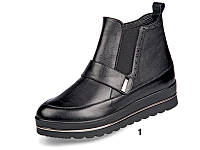 Ботинки  демисезонные на танкетке кожаные МИДА 22125.