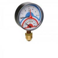 Icma Термоманометр радиальный с запорным клапаном 1\2 0-10