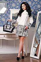 Кашемировое женское белое демисезонное пальто арт. 926 Тон 4