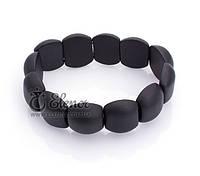 Браслет 0589 черный нефрит натуральные камни