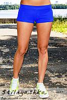 Спортивные  женские ярко голубые шорты для тренировок