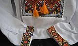 Мужская вышиванка на домотканом полотне, фото 2