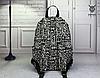 Черно-белый рюкзак из холста, фото 3