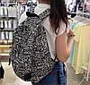 Черно-белый рюкзак из холста, фото 4