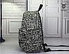 Черно-белый рюкзак из холста, фото 5