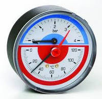 "Icma Термоманометр с запорным клапаном ""1\2 0-10"""