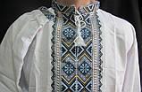Мужская вышиванка ручная работа на домотканом полотне, фото 2