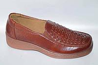Туфли женские (36-41) Baolikang А-27 коричневые