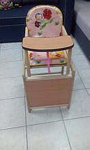 """Детский стульчик-трансформер для кормления """"Божья коровка"""" розовый"""