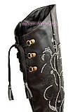Ботфорты зимние кожаные женские, декорированы камнями., фото 8