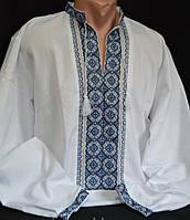 Мужская вышиванка ручной работы (лён)
