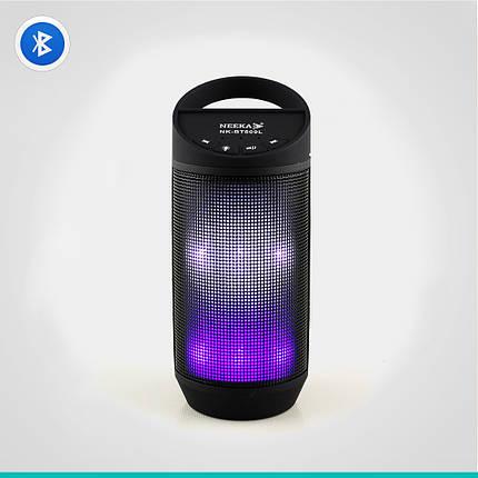Светодиодная портативная колонка Neeka NK-BT809L Bluetooth, фото 2