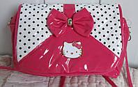 Сумочка для девочки «Китти» лаковая, ярко розовая
