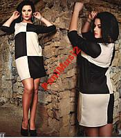 Платье трикотаж шахматка 48/50/52/54 casual NS5981