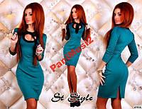 Модное стильное трикотажное платье футляр №122, фото 1