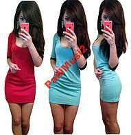 Модное трикотажное платье футляр Ободок