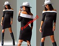 Модное трикотажное платье футляр №249, фото 1